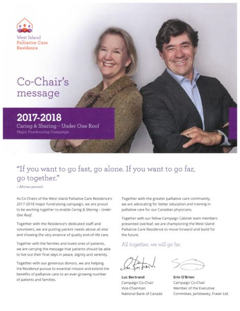 Co-Chair's Message - Caring & Sharing